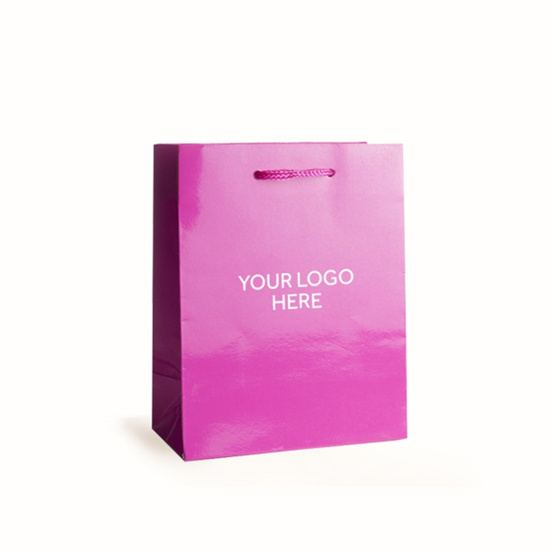 Shocking Pink Printed Gloss Laminated Bags