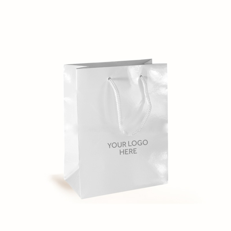 White Printed Gloss Laminated Bags
