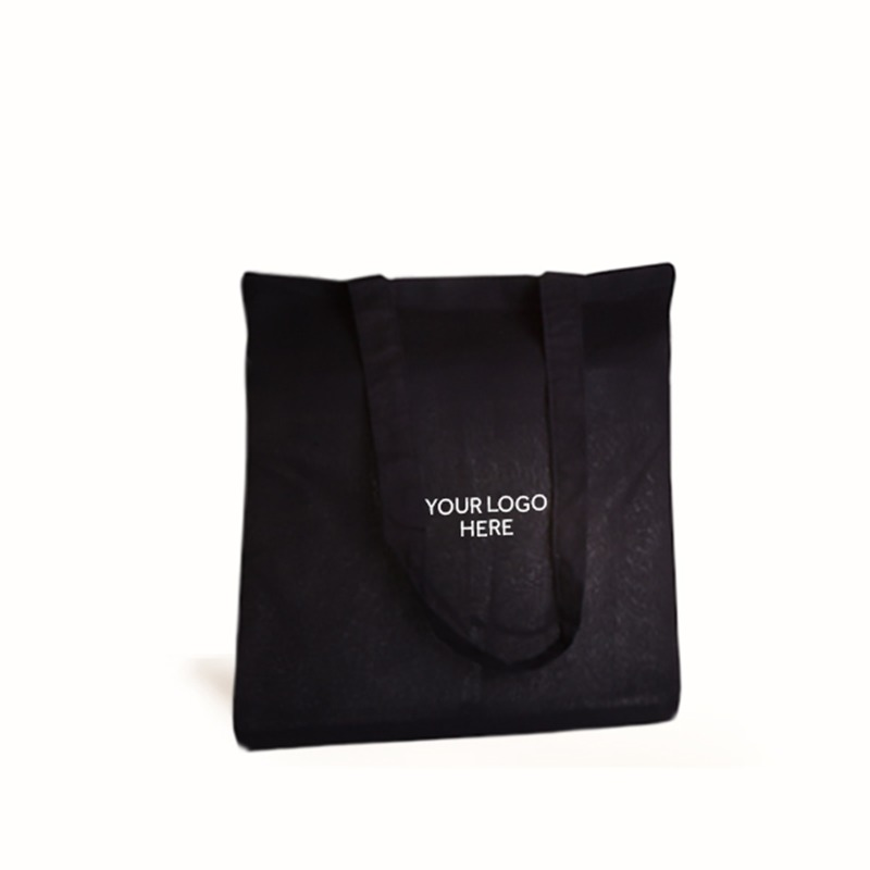 Personalised Black Cotton Shopping Bags