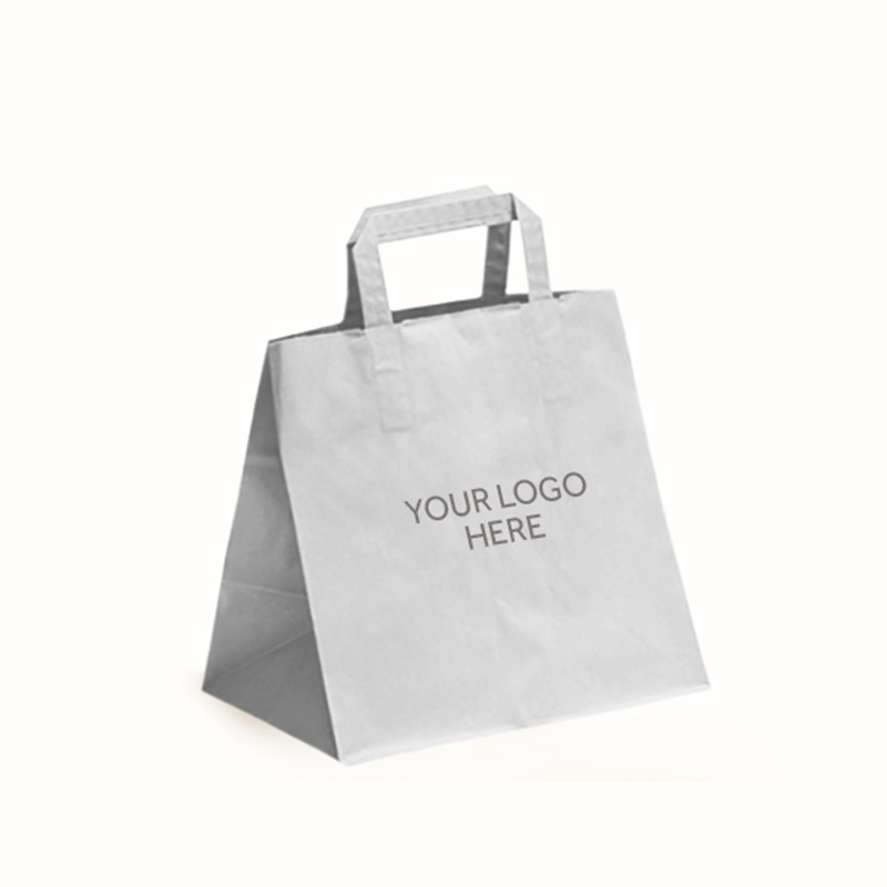 White Printed Patisserie Bags