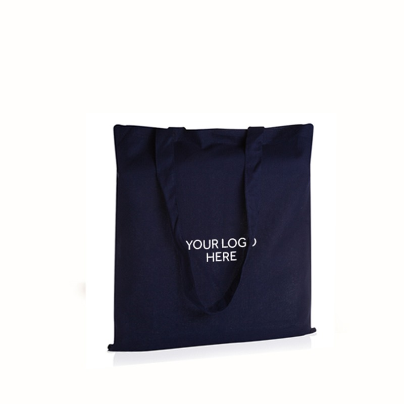 Personalised Navy Cotton Shopping Bags
